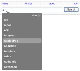 auto suggest search